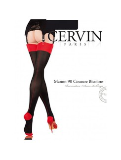 Cervin Manon 90 Couture Bicolore Stockings