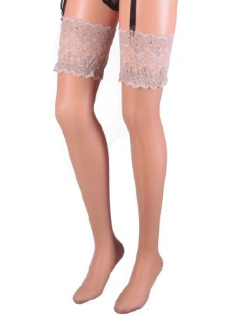 Cervin Sensuel Luxe Suspender Stockings gazelle