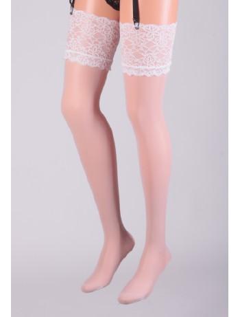 Cervin Sensuel Luxe Suspender Stockings white