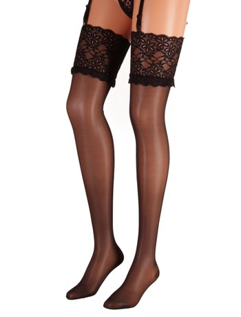 Cervin Sensuel Luxe Suspender Stockings black