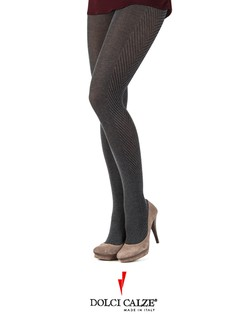 Dolci Calze tweed side tights
