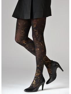 Dolci Calze Laminado print tights