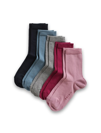 Esprit Kids Essential Socks 5 Pack mixed colors