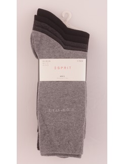 Esprit men's essential Socks 5 pack color sorted