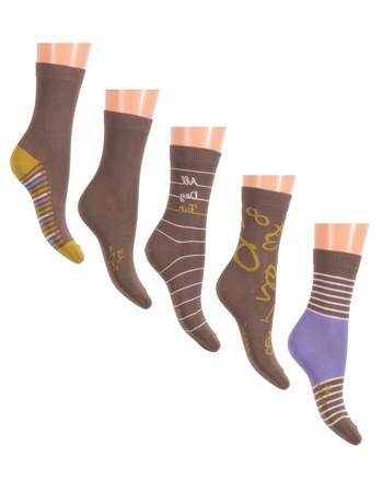 Esprit School Fun Kid's Socks 5-Pack thyme