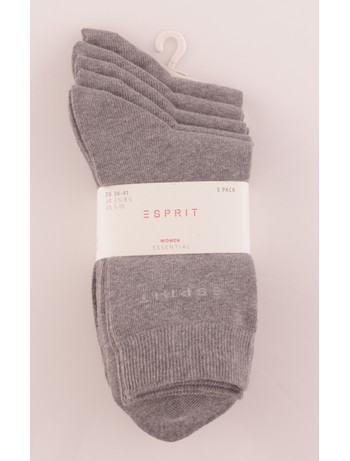 Esprit Women's Essential Socks 5 Pack lightgray tinged