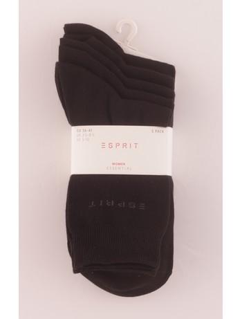 Esprit Women's Essential Socks 5 Pack black