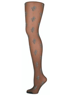 Elbeo Transparent Fashion Tights with Flower Pattern