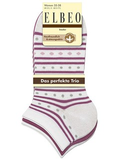 Elbeo The Perfect Trio Stylisch Sneaker Socks