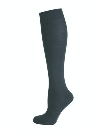 Elbeo Pure Cotton Knee High Socks black