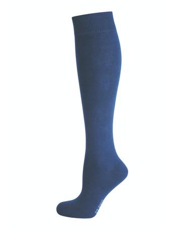 Elbeo Pure Cotton Knee High Socks nightblue