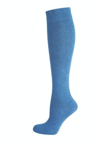Elbeo Pure Cotton Knee High Socks denim melange