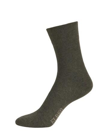 Elbeo Pure Cotton Sensitive Cotton Socks anthracite melange