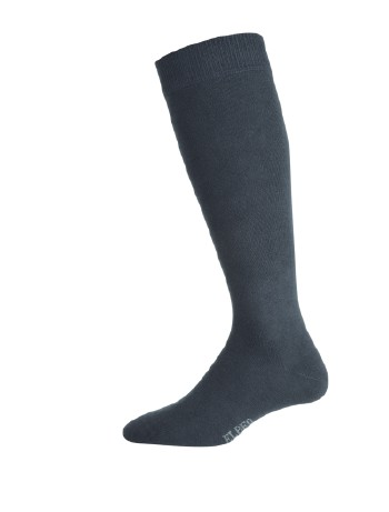 Elbeo Men's Pure Cotton Knee High Socks black