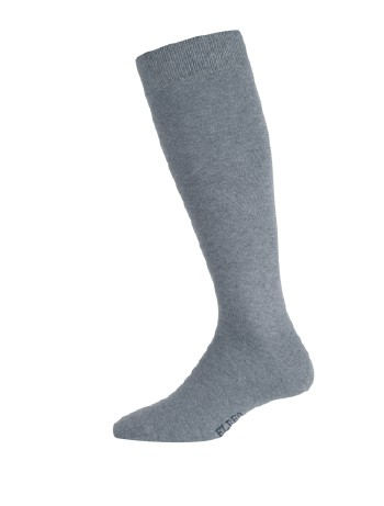 Elbeo Men's Pure Cotton Knee High Socks anthracite melange