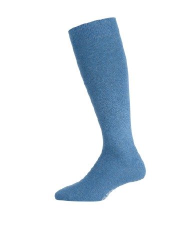 Elbeo Men's Pure Cotton Knee High Socks denim melange