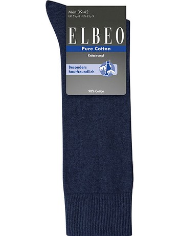 Elbeo Men's Pure Cotton Knee High Socks