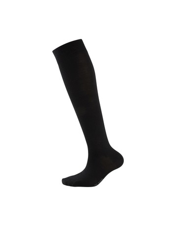 Elbeo Classic Wool Knee High Socks for Men black