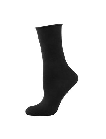 Elbeo Light Cotton Roll Top Socks black