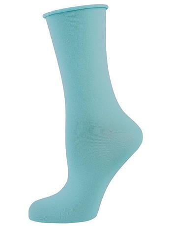 Elbeo Light Cotton Roll Top Socks turquoise