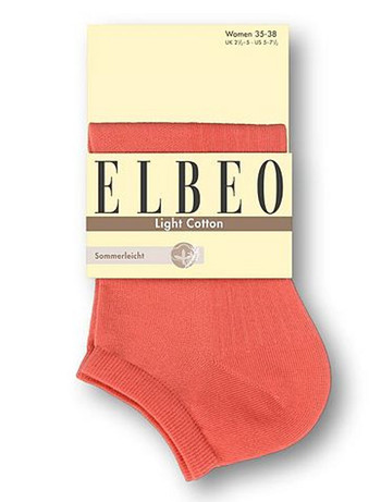 Elbeo Light Cotton Sneaker Socks coral