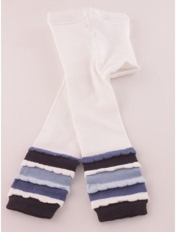 Ewers Children's Capri Leggings with Ruffles white/navy