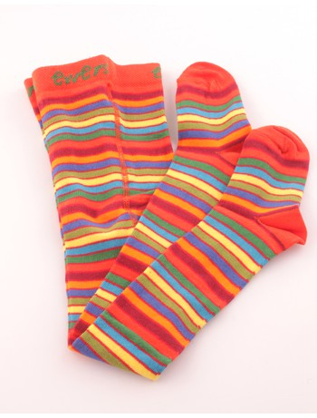 Ewers Fine Striped Cotton Tights for Children color mix