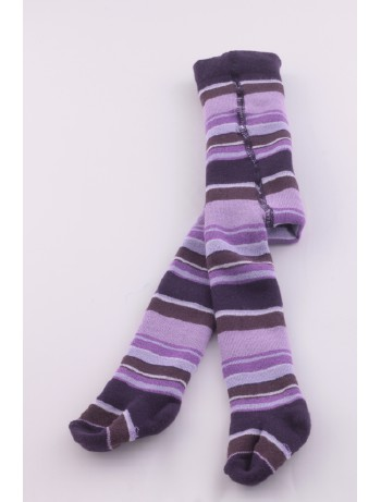 Ewers Baby Striped Plush Fleece-Lined Tights violet