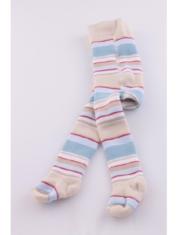 Ewers Baby Striped Plush Fleece-Lined Tights ivory