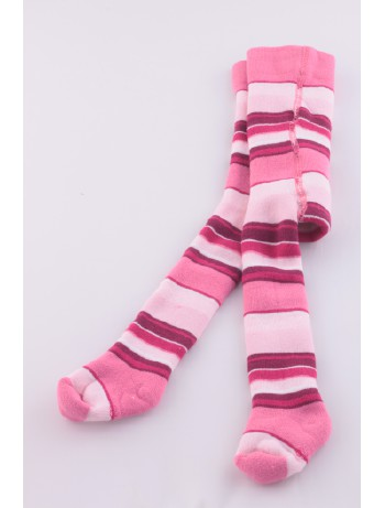 Ewers Baby Striped Plush Fleece-Lined Tights orchid ringers