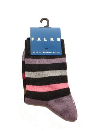 Falke New Stripe Children's Socks anthra.mel.