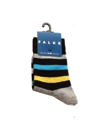 Falke New Stripe Children's Socks black melange