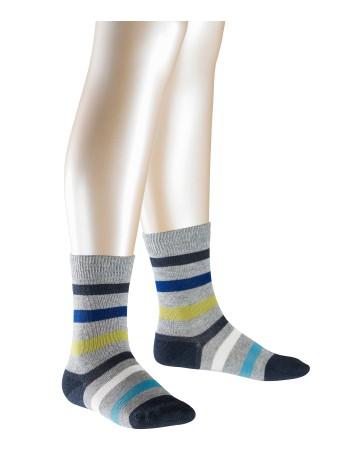 Falke New Stripe Children's Socks greymelange-mix