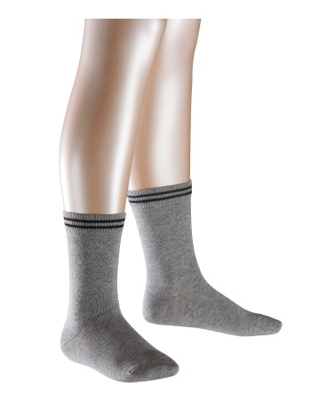 Falke 2 Friends Casual Children`s Socks Twopack light grey mel.