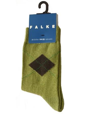 Falke Argyle Children's Socks avocado