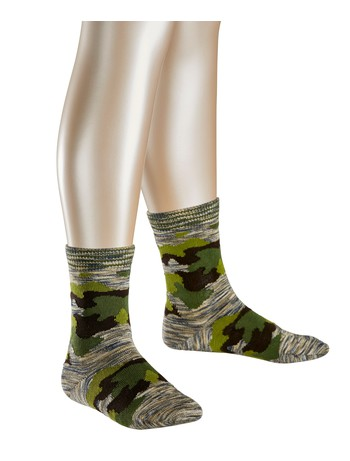 Falke Camouflage Children Socks nutmeg mel.
