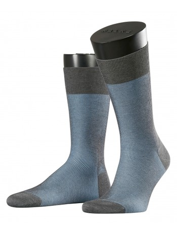 Falke Fine Shadow Men's Socks grey bleue
