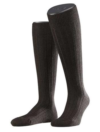 Falke Casual Men's Knee Highs dark brown