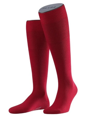 Falke Airport Men's Knee High Socks scarlet