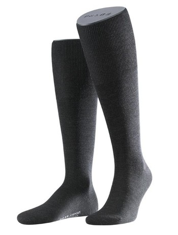 Falke Airport Men's Knee High Socks anthracite mel.