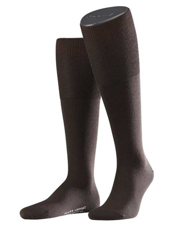 Falke Airport Men's Knee High Socks brown