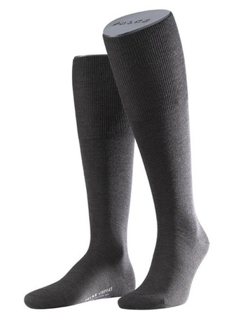 Falke Airport Men's Knee High Socks dark brown