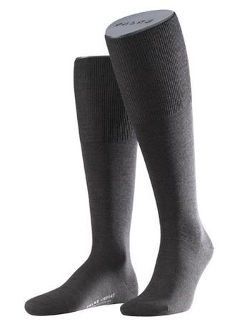 Falke Airport Men's Knee High Socks dark brown