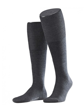 Falke Airport Men's Knee High Socks asphalte melange