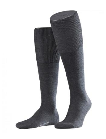 Falke Airport Men's Knee High Socks asphalte melange