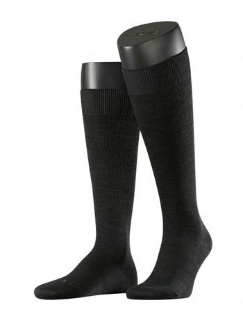 Falke Energizing Wool Mens Knee High Socks anthracite mel.
