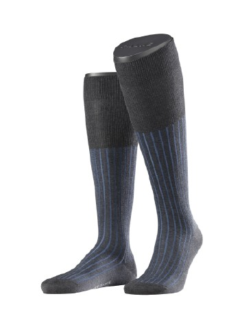 Falke Shadow Men's Knee High Socks anthracite-iceblue