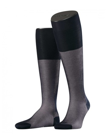 Falke Fine Shadow Men's Knee High Socks sailor-black