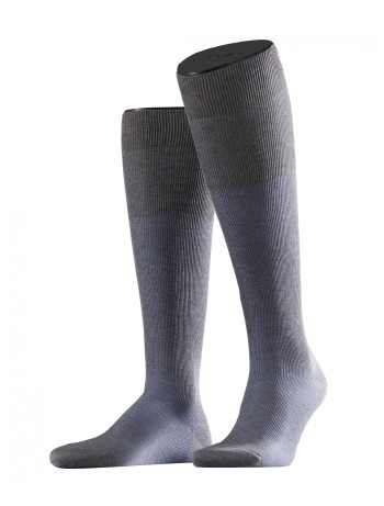 Falke Fine Shadow Men's Knee High Socks light grey mel.