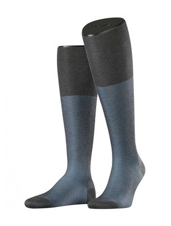 Falke Fine Shadow Men's Knee High Socks grey bleue